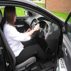Ergonomic assessment of a car driver
